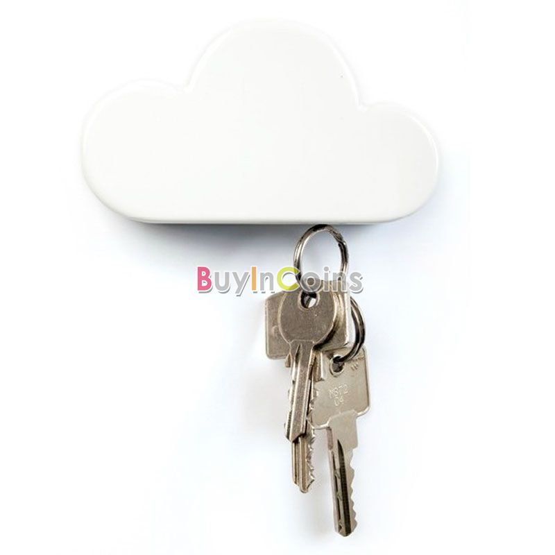 Cloud Shape Magnets Key Chains Holder Suck Rack Magnetic Hanger Creative Creative Home US AS #51361(China (Mainland))