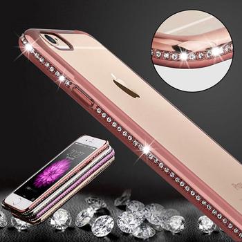 Etui do Iphone 6 6S 4.7/ Plus 5.5 sylikonowe plecki błyszczące boki