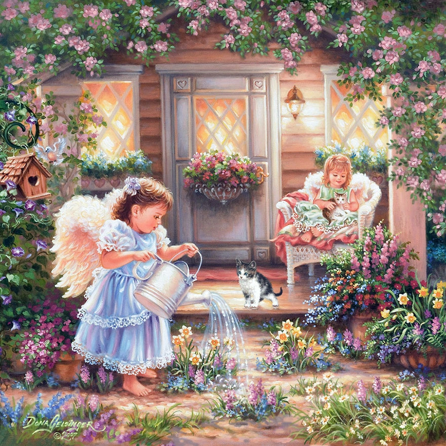 NEW!!5D Diamond painting Full Resin Pasted Cross Stitch DIY Craft Trendy Painting -- Angel Baby A1175(China (Mainland))