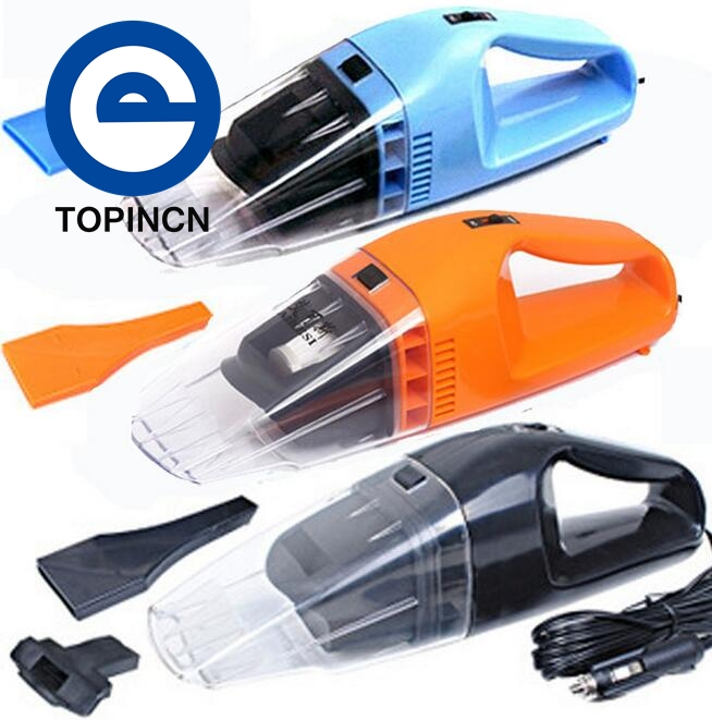 NEW Portable Car Vacuum Cleaner Wet and Dry Use With Power 100W 12V Super Suction Car Vacuum Cleaner Freeshipping(China (Mainland))