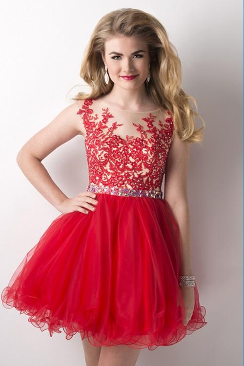 red junior dresses - Dress Yp