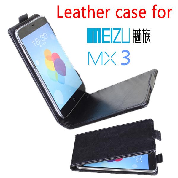 5,New 2014 Luxury Fashion Flip Genuine Leather Case Cover Meizu MX3,Original Mobile Phone Bag/ - MMZ Union Source store