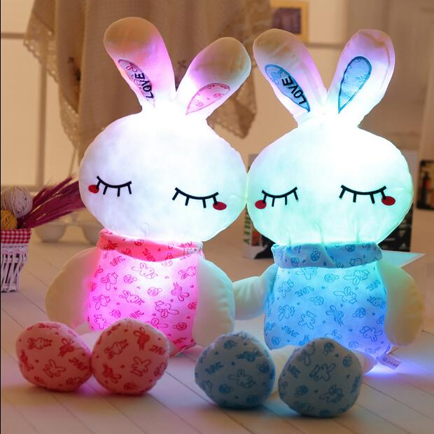 70CM lovely pink rabit plush toys for children boy and girls night luminous plush toy in Christmas gift and birthday to kids<br><br>Aliexpress