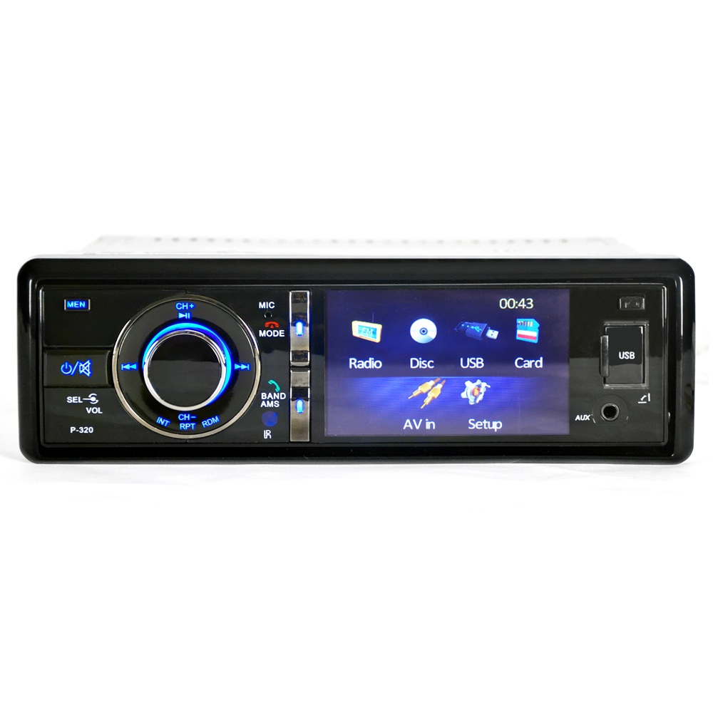 "3"" 1 Din Car DVD Player Radio Stereo Detachable Panel Video Bluetooth Subwoofer AUX In CD MP3 Audio USB SD(China (Mainland))"