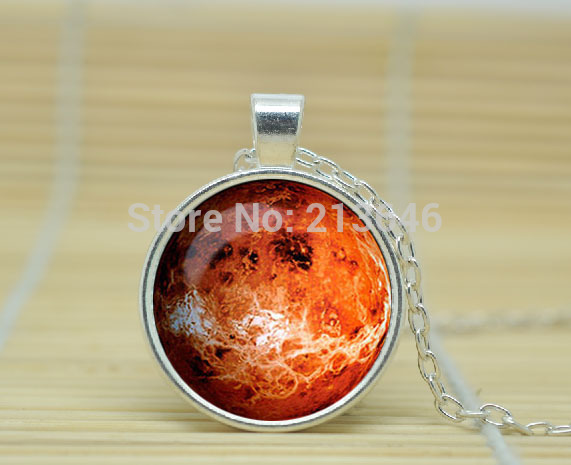 10pcs PLANET Venus Necklace solar system jewelry planet neptune pendant neptune jewelry Galaxy Glass Cabochon Necklace A1136(China (Mainland))