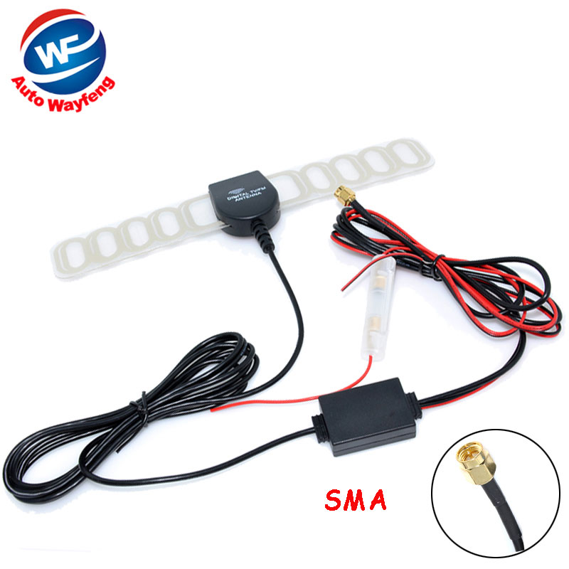 Car Digital TV Active Antenna Mobile Car Digital DVB-T ISDB-T Aerial with a Amplifier Booster Factory Selling(China (Mainland))