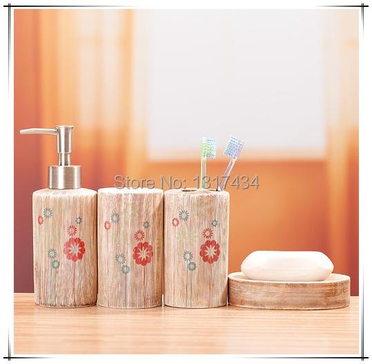 Série de sabão porta-escovas produto conjunto de banheiro de quatro peças acessórios do banheiro caneca de dente de sabão