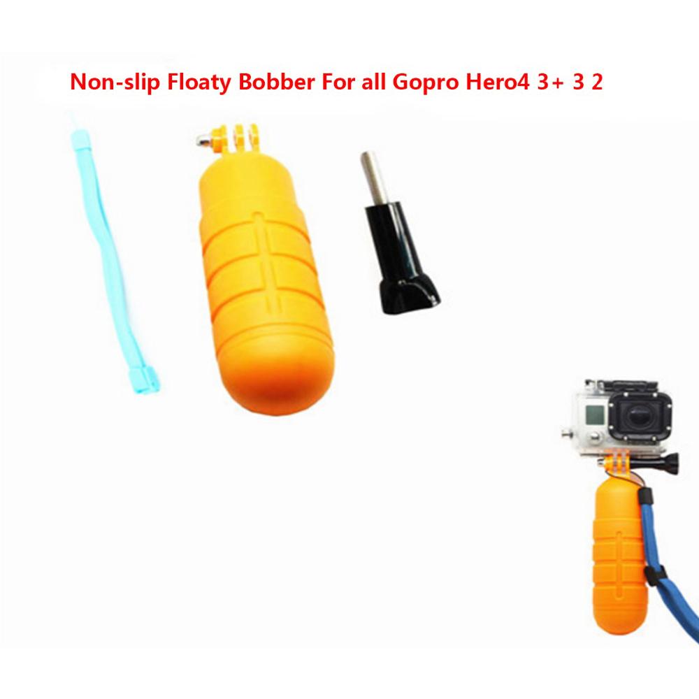 Non-slip floaty gopro Handheld Floaty Bobber with Strap And Screw bobber gopro For Gopro Hero4 3+ 3 2 SJ4000 SJ5000 Xiaomi yi