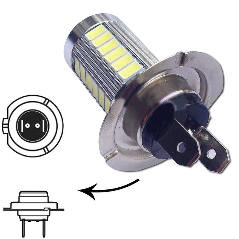 2016 Super Bright H7 5630 SMD 33-LED 12V White Auto Car Fog Driving Light Lamp Bulb Fashion Accessories Free Shipping Vicky(China (Mainland))