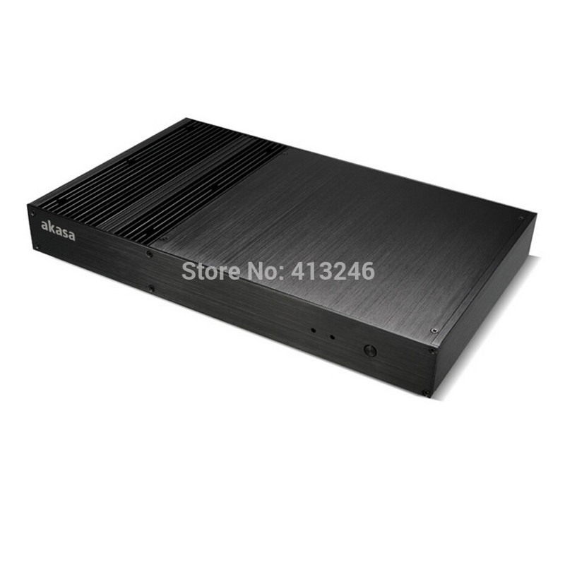 All aluminum chassis back hanging small case HTPC case no CPU fan design<br><br>Aliexpress