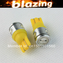 2x Amber Yellow 2.5W W5W  T10 168 194 8 SMD LED Interior MAP Dome Reading NUMBER LICENSE PLATE TAG LIGHTS