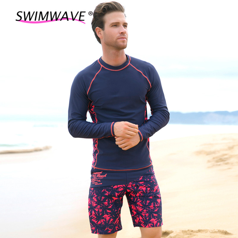 UV Beach Long Sleeve Thermal Wetsuit Swimwear Man Shirt Surfing Snorkeling Swimsuit Set Summer Diving Suit Rash Guard for Sale#(China (Mainland))
