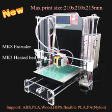 Free shipping 2015 Newest coming high quality bigger size He3d X-i3 3d printer  with 8GB SD LCD