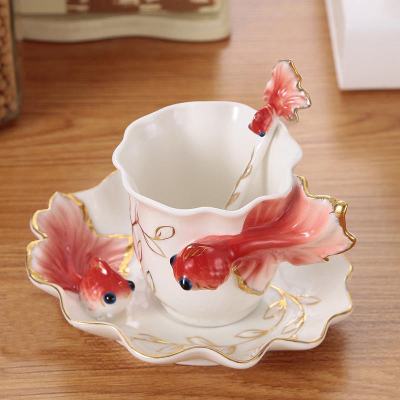 porzellan hyun goldfish kaffeetasse set kreative hochzeitsgeschenke ...