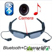 Sport Wireless Sunglasses Bluetooth Camera Eyewear Glasses Support TF Card Video Recorder DVR DV Camcorder mp3 earphone(China (Mainland))
