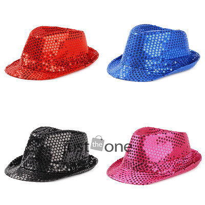 Fashion Cool Kids Boys Girls Glitter Sequins Canvas Jazz Hats Show Party Caps56(China (Mainland))