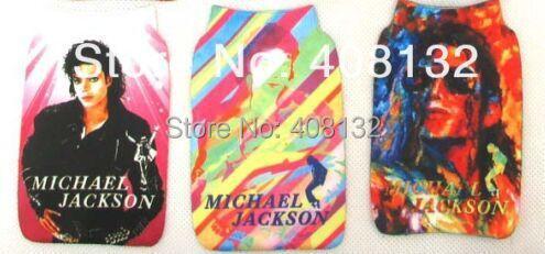 Free Shipping 100 Pcs Kids Michael Jackson mobile phone socks case mobile pouch(China (Mainland))