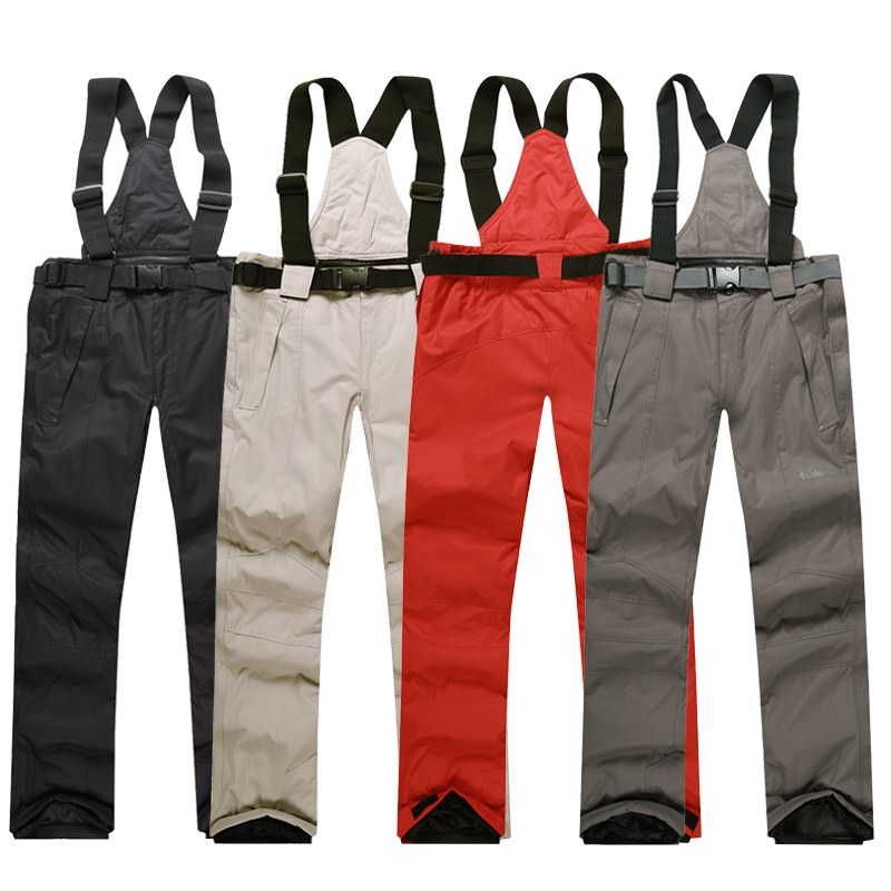 Free Shipping Outdoor windproof snowboard pants men or women snow pants trousers waterproof windproof warm Breathable ski pants(China (Mainland))