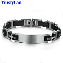Buy TrustyLan Aliexpress Cross Bracelets Bangles Stainless Steel Black Silicone Men Bracelet Gift Men's ID Bracelets Male Jewelry for $4.06 in AliExpress store