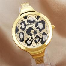 Mujeres personalidad Simple reloj del cuarzo fina pulsera de acero inoxidable para mujer del reloj de oro relojes de lujo