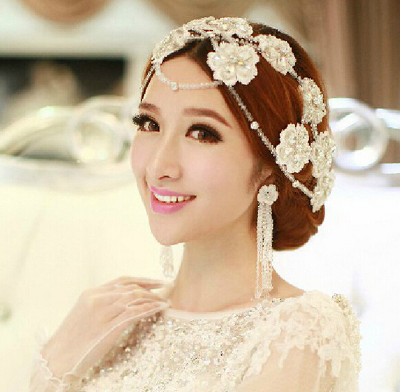 free shipping hot sale handmad rhinestone flower wedding