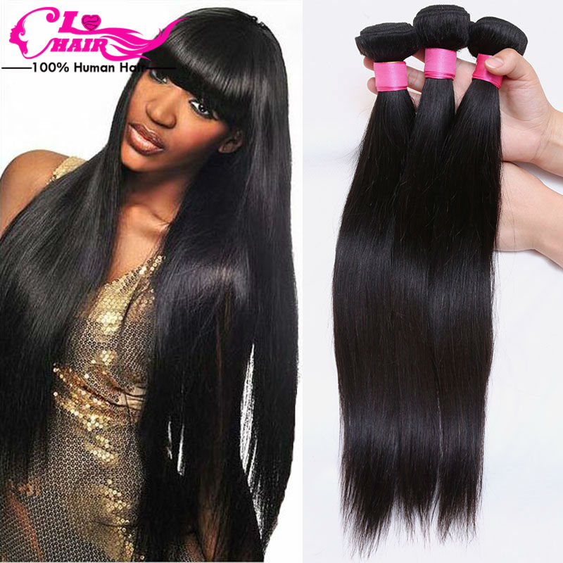 Brazilian Virgin Hair Straight Brazilian Straight Hair Brazilian Virgin Hair 4 Bundles Top Hair Extensions Human Hair Weave 1B