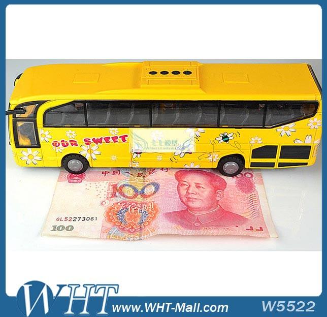 Bus Model with 5 Open-Doors Ultra Long Luxury School Bus Model Toy for Children