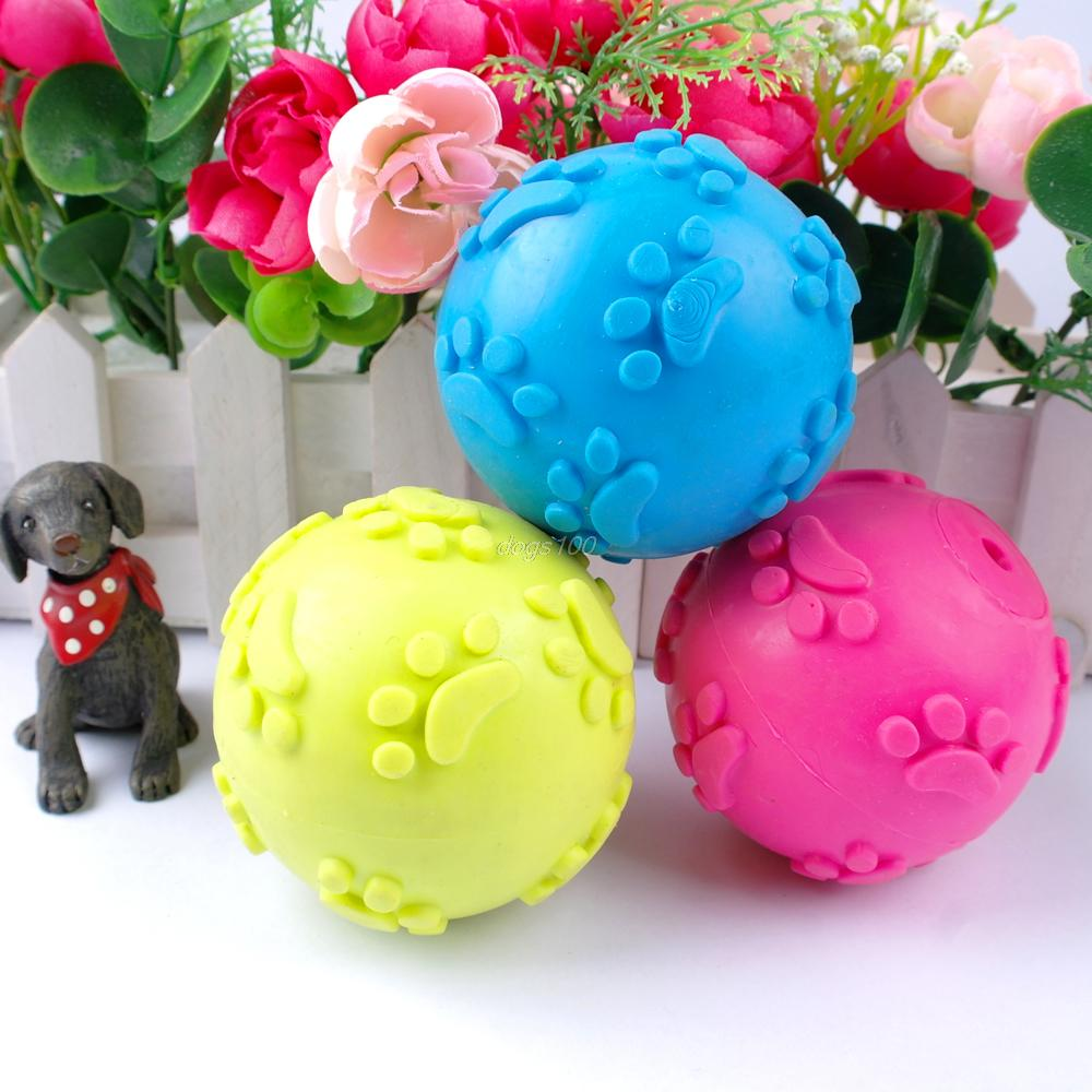 Molar Rubber Teeth Bite Paw Play Ball Toys For Pet Dog Cats Foot ball 6cm(China (Mainland))