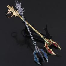 Buy LOL Tidal Trickster Fizz weapon League Zinc Alloy key ring car keychain key chain game legend Accessories for $3.30 in AliExpress store