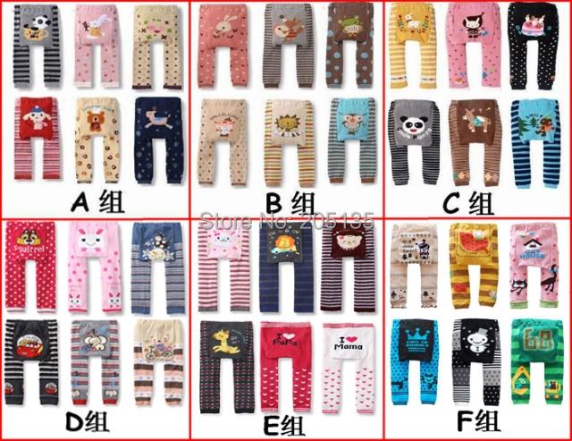 6pcs/lot Baby Cloting Winter Children kids pp pants toddler cartoon legging tights long trousers Warmer Busha Leggings(China (Mainland))