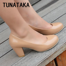 Comfy Office High Heels Woman Shoes Ladies Pumps Plus Size Footwear Red White Apricot Black Beige Pink Green Yellow Blue