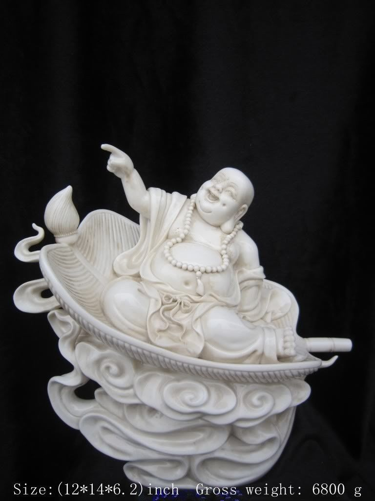 Chinese dehua porcelain, China miro happy Buddha.Laughing Buddha statue(China (Mainland))