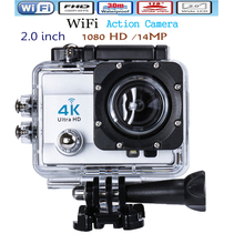Ultra HD 4K 14MP WIFI Action Camera Camcorder 1080P 2.0 inch 170 Degree Lens go 30M Waterproof pro Action Cam Free shipping