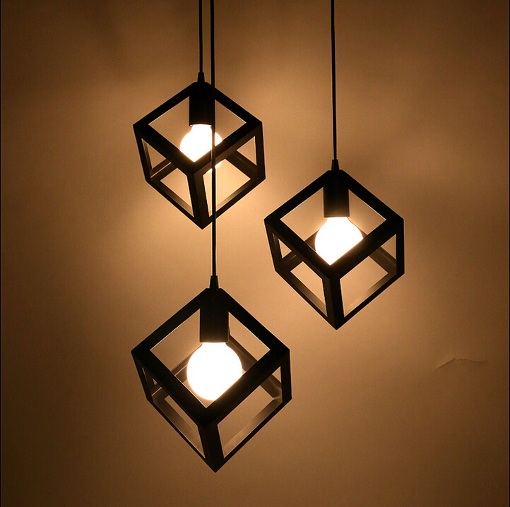 Aliexpresscom Buy Vintage pendant lamp metal cube cage  : Vintage pendant lamp metal cube cage lampshade lighting hanging light fixture from www.aliexpress.com size 722 x 718 jpeg 671kB