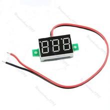 P128- – 5pcs/lot Mini LED DC2.5-30V Red Volt Voltage Meter Display Digital Voltmeter Self-Powered Drop Shipping