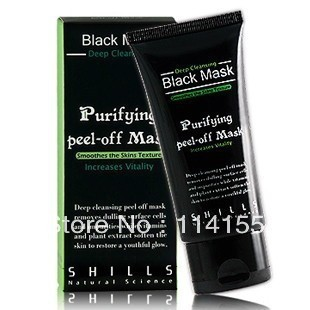 Best Selling SHILLS Deep Cleansing purifying peel off Black mud Facail face mask Remove blackhead facial mask 50ml,free shipping