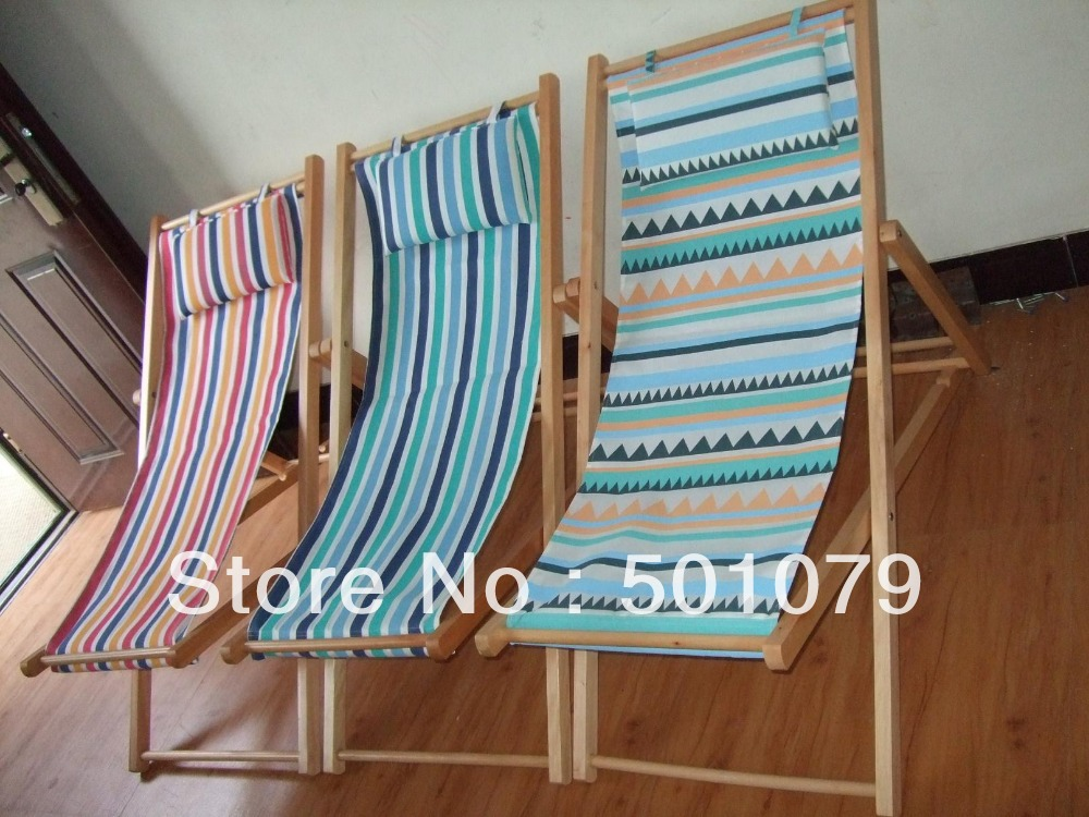Wholesale pc lot natural wood beach chair outdoor