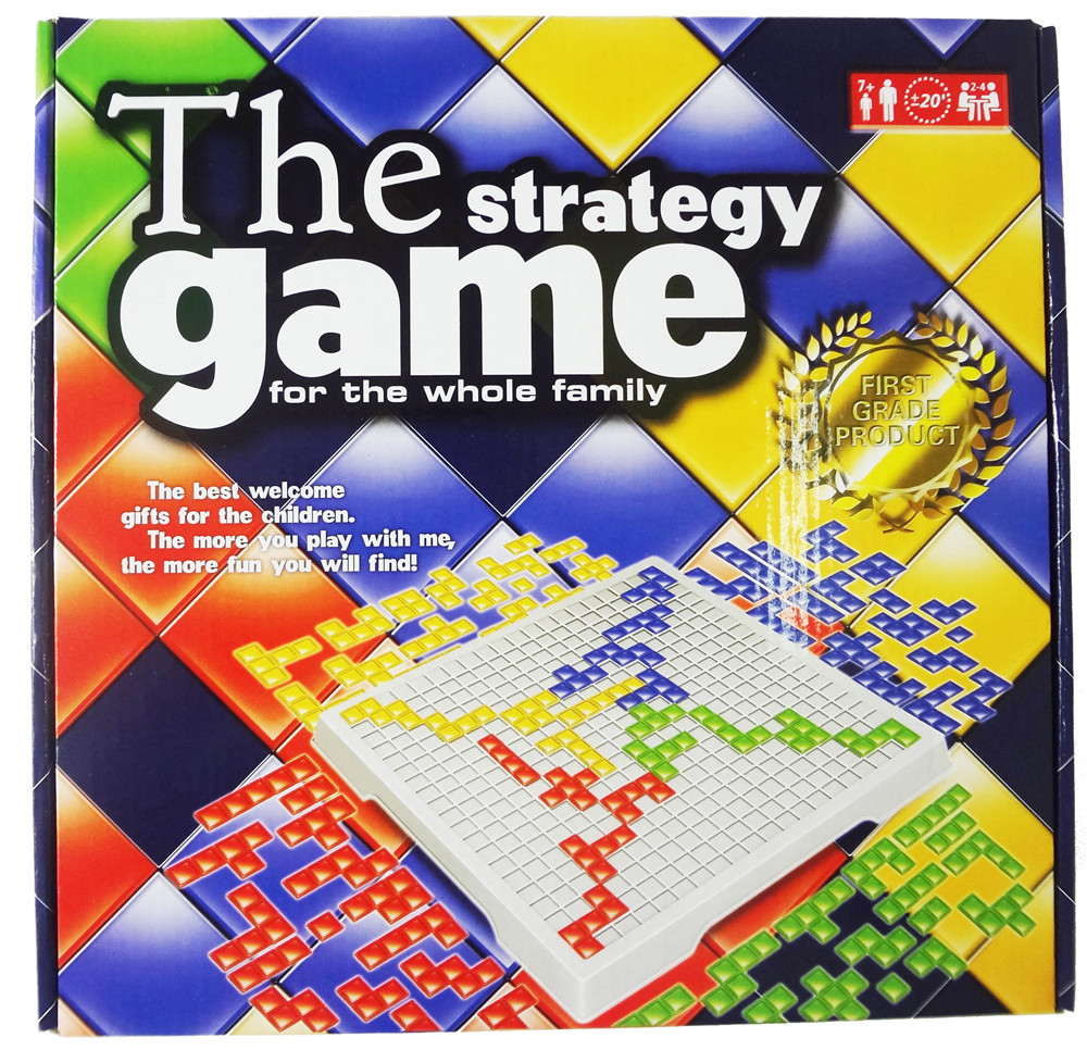 Blokus 4 player English strategy board game English Version Strategy Board Game Standard Square Grid Table Game free shipping(China (Mainland))