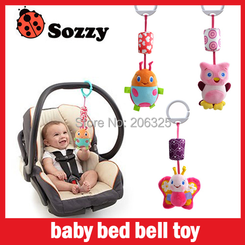 Baby toy baby bed bell toy bed to hang the bell baby rattles toddler toys animals chose free shipping,SOZZY-C005(China (Mainland))