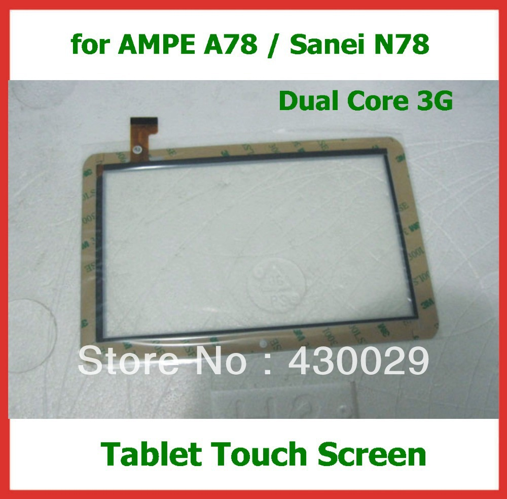 2pcs 7 inch Replacement Screen Touch Panel Digitizer for Ampe A78 / Sanei N78 3G version Capacitive Touch Screen(China (Mainland))