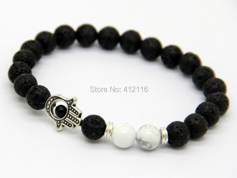2014 New Design Top Quality 8mm Natural White Howlite