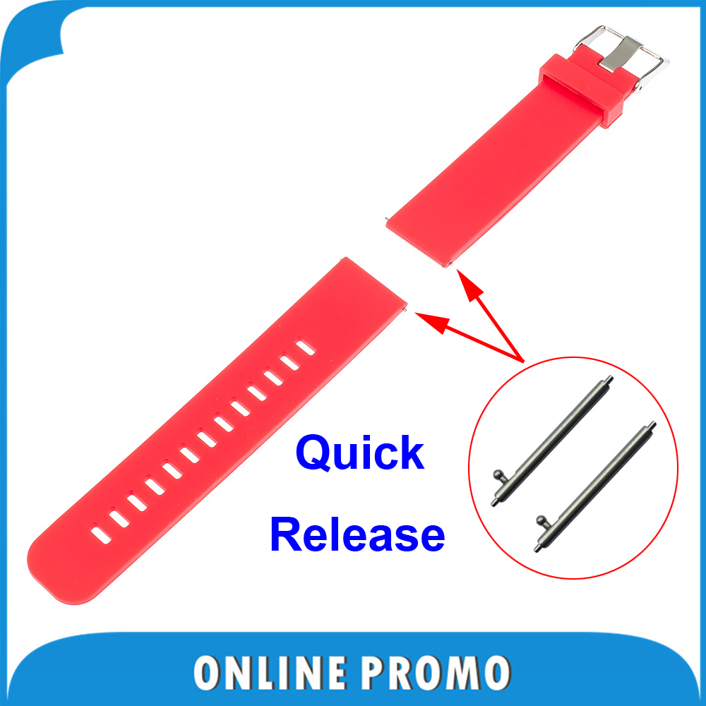 18mm Silicone Rubber Watchband Quick Release for Withings Activite / Steel / Pop Smart Watch Band Resin Strap Bracelet 6 Colors(China (Mainland))