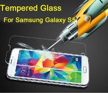 For Samsung Galaxy S5 i9600 Tempered Glass Screen Protector i9600 Premium protective film 2014 New(China (Mainland))