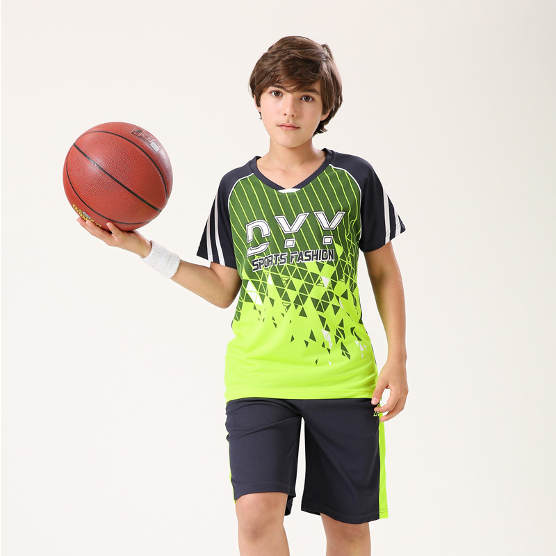 Children's sportswear boy vest suit students two-piece youth training Shirt+shorts Basketball jerseys students Active Sets(China (Mainland))