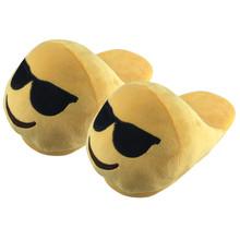 Emoji Slippers Zapatillas De Casa Hombre Pantofole Donne Emoji Shoes Warm Chaussons Female Winter Slippers Home