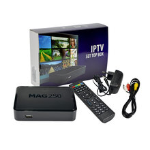 5pcs Mag 250 Linux System IPTV Set Top Box HD 1080p Satellite Receiver Support Lan Wifi Youtube Mag250 Support Wifi Adapter