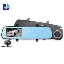Promotions New 4.3inch Car Camera Parking Video Recorder Car Rearview Mirror With Camera Full HD 1080P Car DVR Dual Camera(China (Mainland))