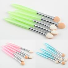 1set Hot Worldwide 5 Pcs Beauty Makeup Cosmetics Eye Shadow Eyeliner Brush Sponge Applicator Tool