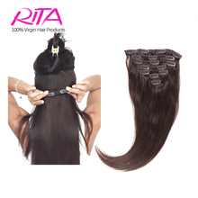 Honey Blonde Clip In Human Hair Extensions 8Pieces Aftrican American Clip In Human Hair Extensions 100G Rita Cabelo Humano Hair