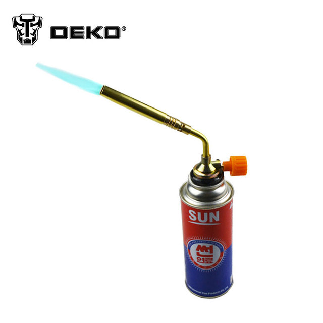 DEKO Butane Burner Blower Welding Outdoor Camping BBQ Gas Torch lighter Flame gun for Kitchen